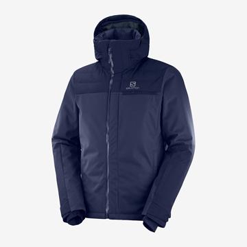 Εικόνα της salomon ανδρικο μπουφαν stormbraver jacket night sky