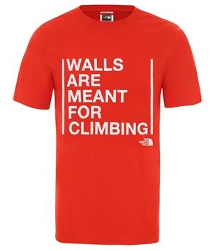 Εικόνα της north face ανδρικο κοντομανικο walls are for climbing
